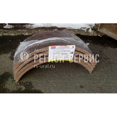375-3501105-Накладка колодки фрикционная рабочего тормоза (несверлёная) (красная) (Фритекс) фото