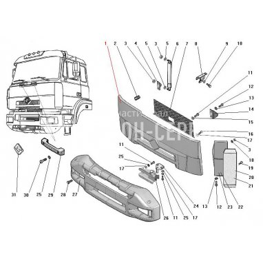 63685-8401500-10-Решетка радиатора фото